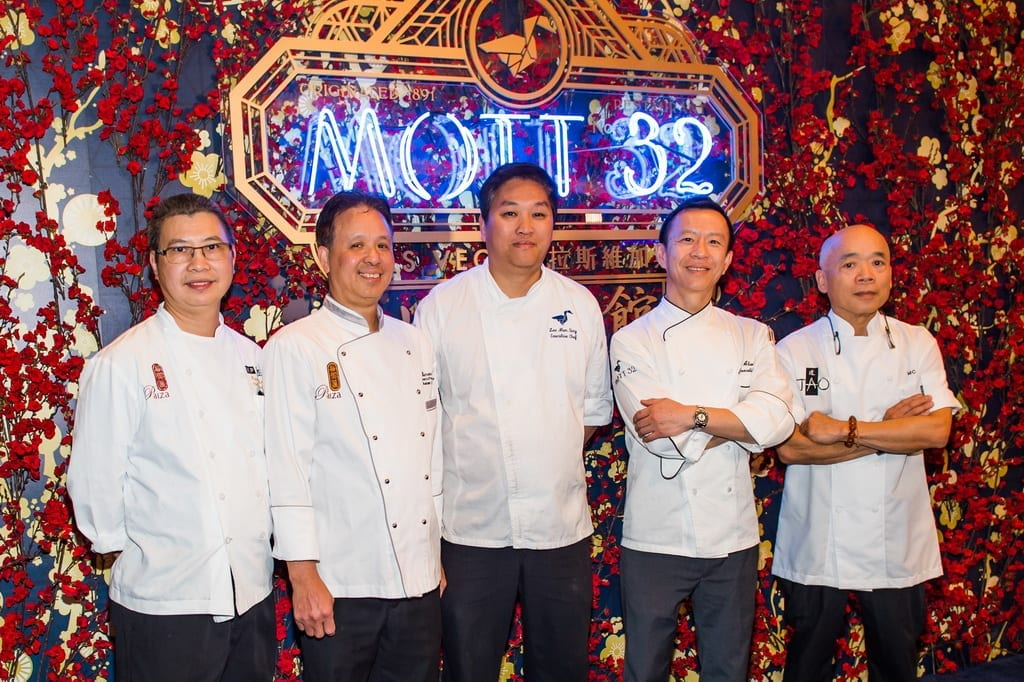 Chefs from restaurants at The Venetian Resort Las Vegas welcome Mott 32 to the property during the grand opening, 12.28.18_Credit Brenton Ho