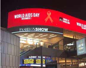 Fashion Show Mall shows support for World AIDS Day