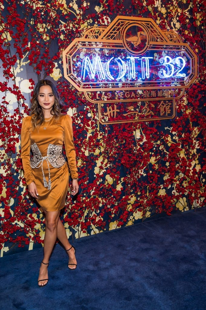 Jamie Chung attends the Mott 32 grand opening at The Venetian Resort Las Vegas, 12.28.18_credit Brenton Ho (2)