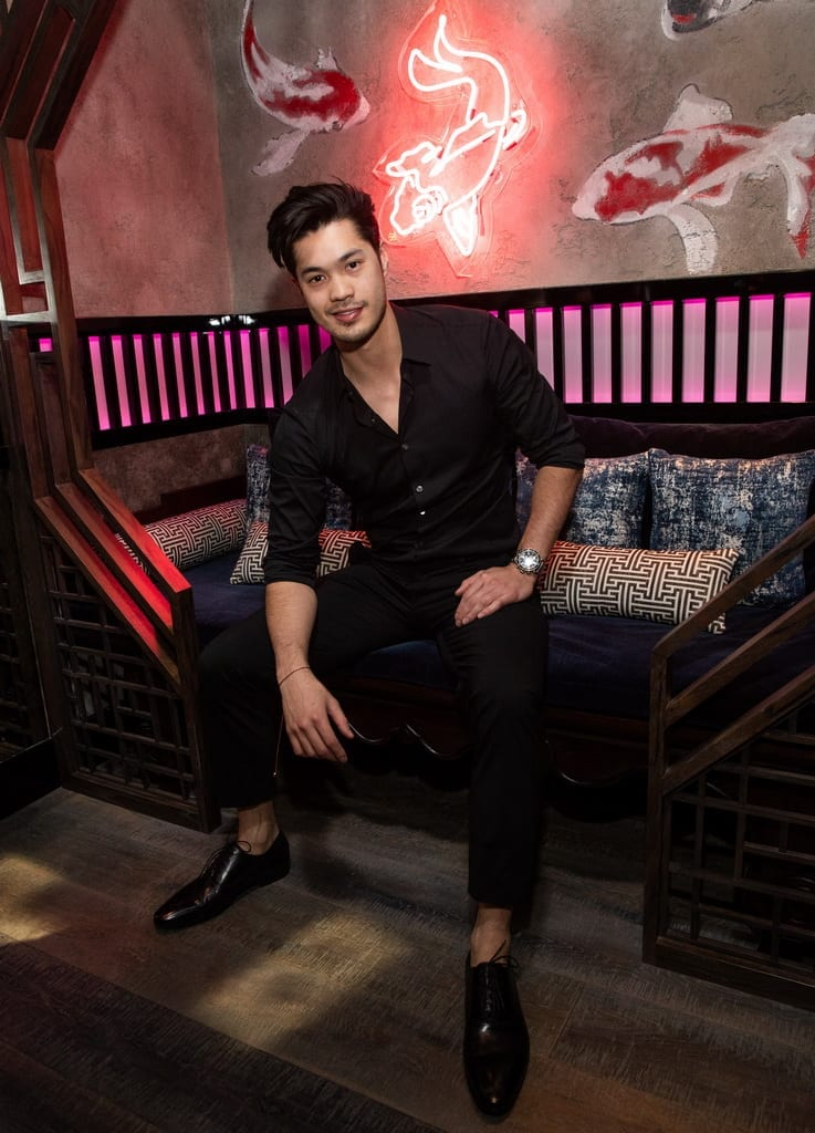 Ross Butler at the Mott 32 grand opening at The Venetian Resort Las Vegas, 12.28.18_Credit Erik Kabik