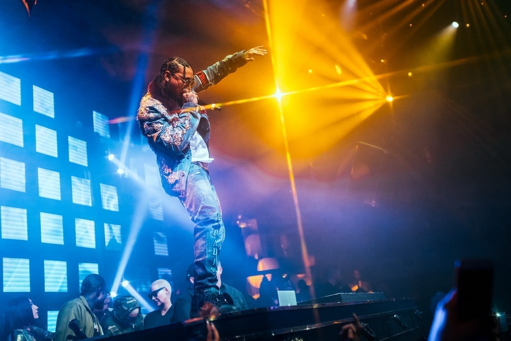 Multi-Platinum Selling Artist Tyga Rings in 2019 in Las Vegas at JEWEL Nightclub Inside ARIA Resort & Casino _ Photo Credit Wolf Productions