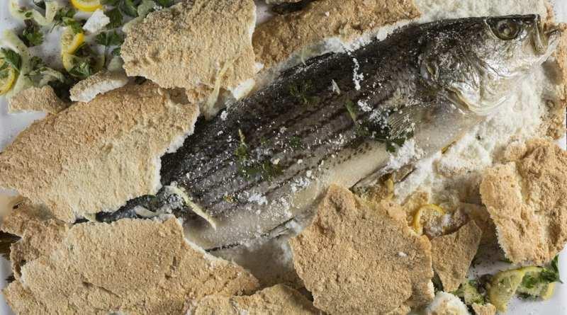 MB Steak's Salt-Crusted Sea Bass