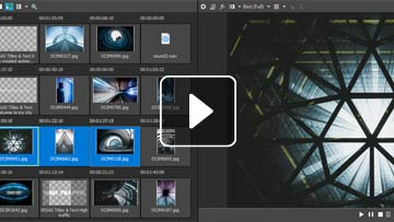 Preview multiple selected project media files