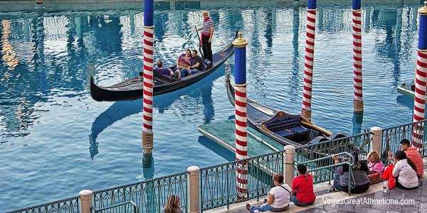 Gondola ride on Canal Grande, at Venetian Hotel, Las Vegas