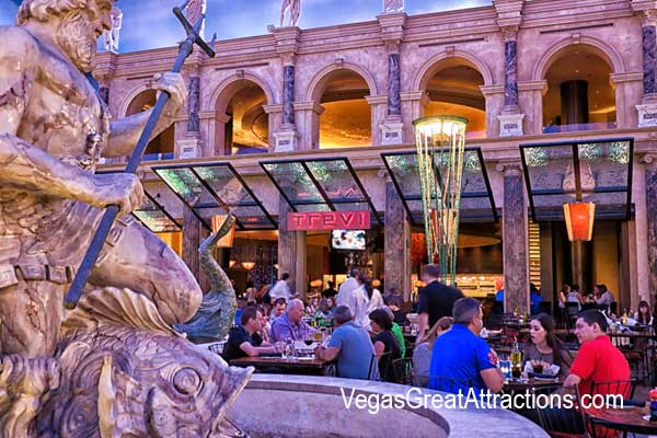 Trevi Restaurant at Forum Shops Caesars Palace, Las Vegas