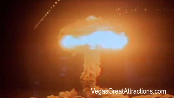 Atomic bomb experiment in Nevada Las Vegas area in January, 1951