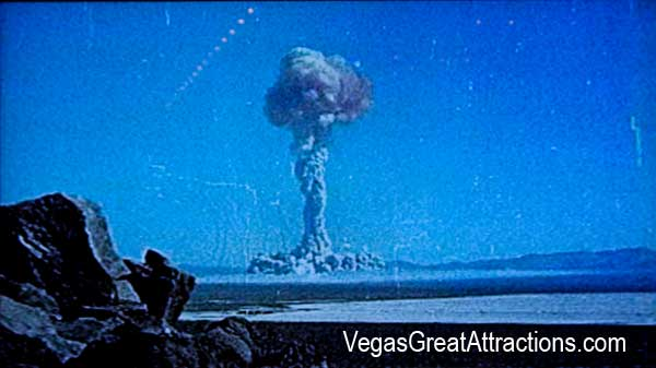 Atomic bomb experiment in Nevada