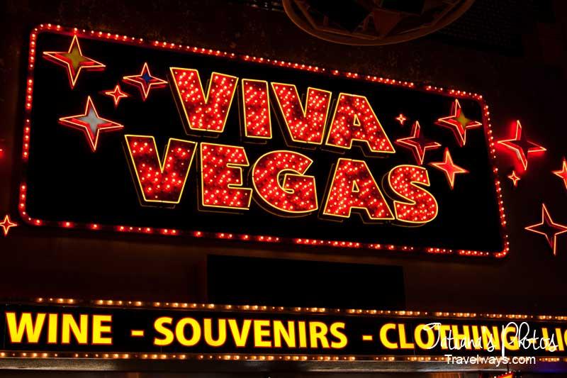 Viva Vegas Neon sign on Fremont Street Experience, las Vegas