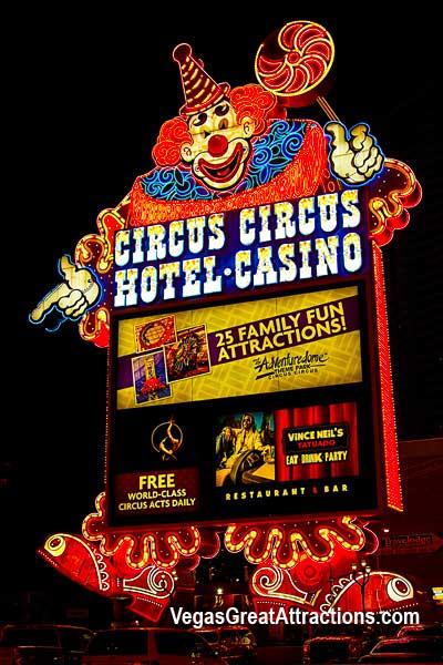 Circus Circus Hotel and Casino Sign, Las Vegas