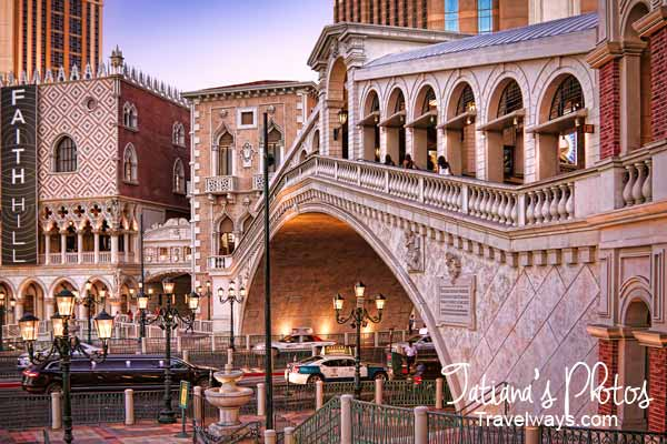 The Rialto Bridge at the Venetian, Las Vegas