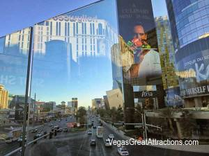 Glass reflections on Las Vegas Strip