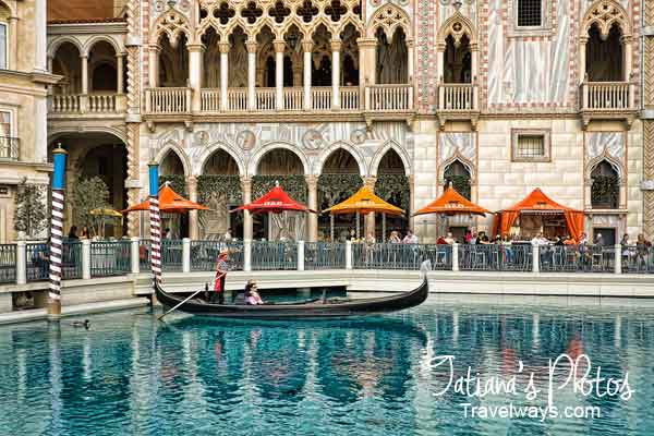 Water reflections at Venetian, Las Vegas