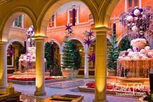 Winter decorations at Bellagio hotel lobby, Las vegas