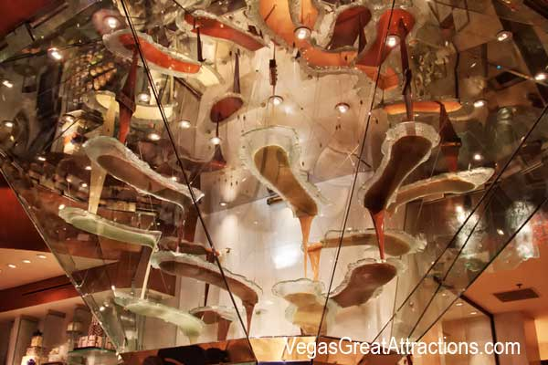 Top of the chocolate fountains at Bellagio
