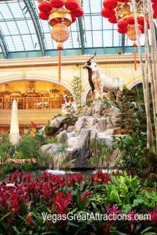 2015 Chinese New Year: Goats display at Bellagio