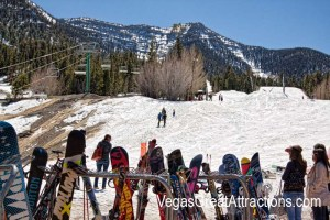 End of the season at the Ski and Snowboard Resort Las Vegas