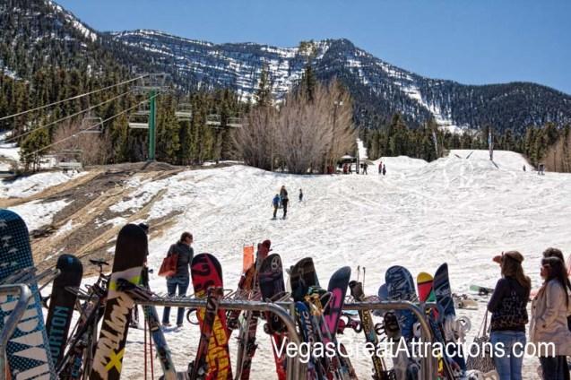 End of the season at the Ski and Snowboard Resort Las Vegas