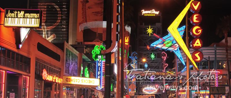 Las Vegas neon lights on Fremont Street