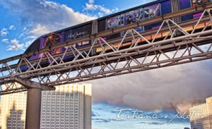 Las Vegas Monorail on the Strip