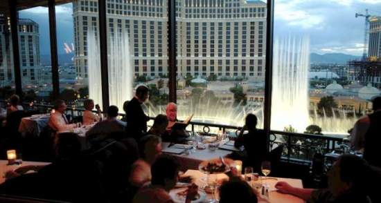 Eiffel Tower fine dining restaurant in Las Vegas