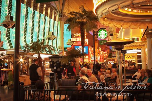 Starbucks cafe on Fremont Street Experience