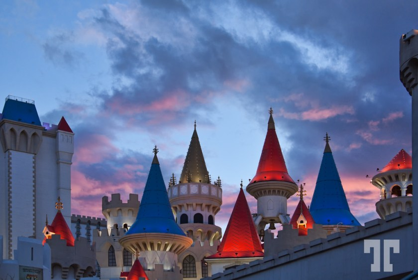 Excalibur towers in Las Vegas