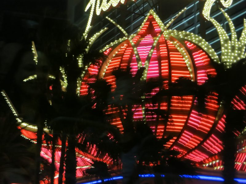 Las Vegas Flamingo Hotel sign at night