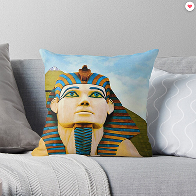The Sphinx at Luxor, Las Vegas' Throw Pillow by travelways