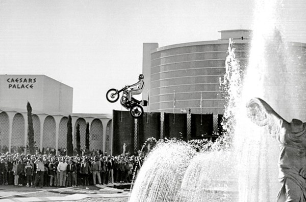 Evel Knivel jump at Caesars Palace