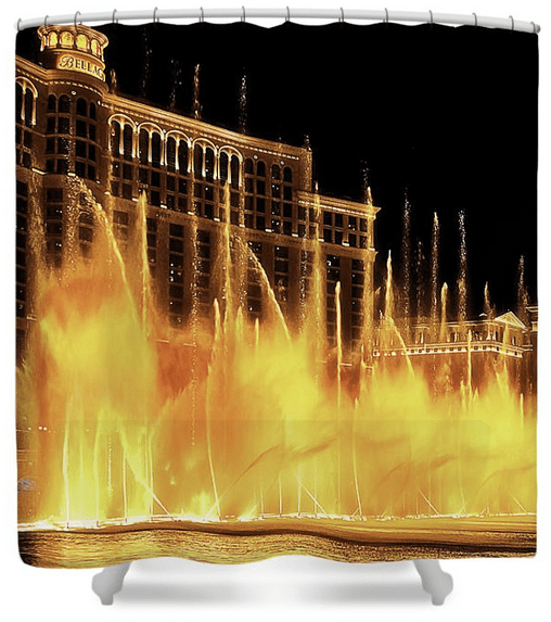 Bellagio Las Vegas Dancing Water Shower Curtain