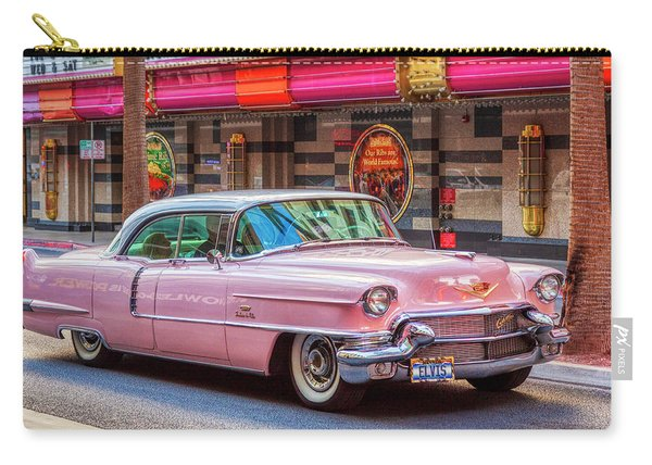 Elvis Pink Cadillac Tour On Fremont Street Experience Carry-all Pouch