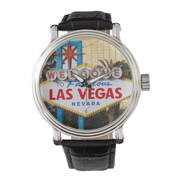 Welcome to Las Vegas sign - men's watch
