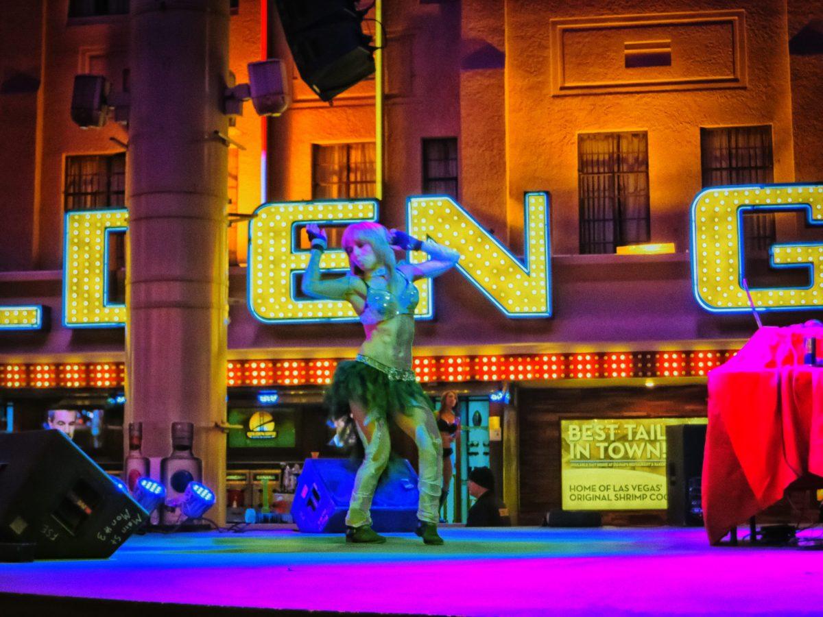 Fremont Street dancer