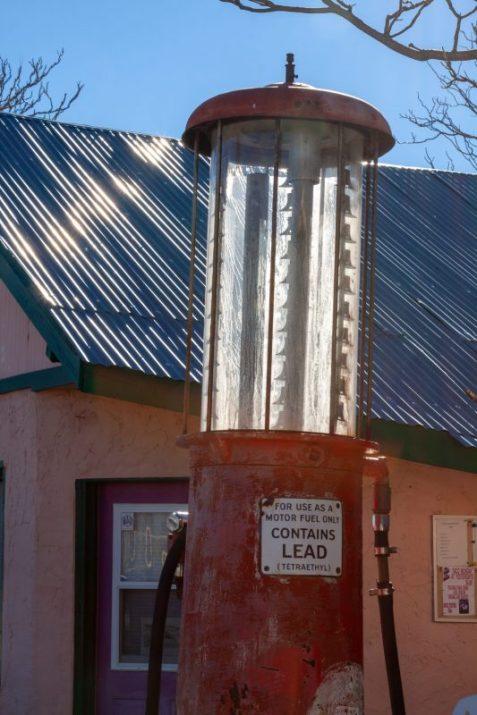 Vintage gas pump restaurant