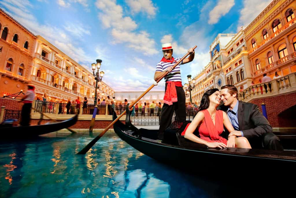 Gondola Rides at The Venetian - Couples things to do in Las Vegas