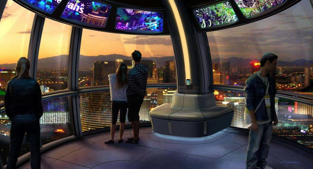 The High Roller at The Linq - Romantic date ideas Las Vegas
