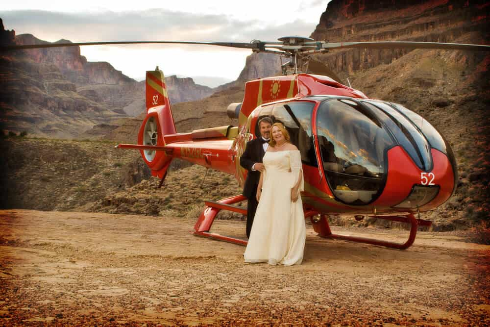 Grand Canyon Helicopter Wedding - Places to Get Married in Las Vegas
