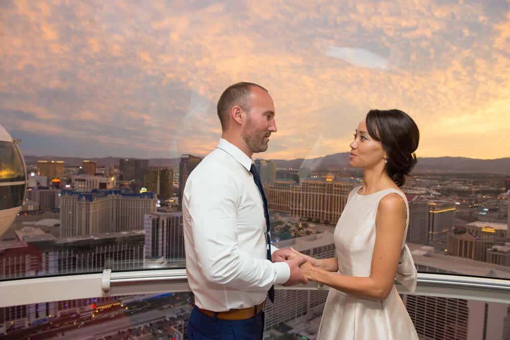 Las Vegas Value Ceremony on Observation Wheel - Vegas Wedding Chapels