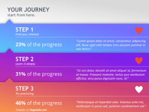 3 Steps Colorful PowerPoint Template