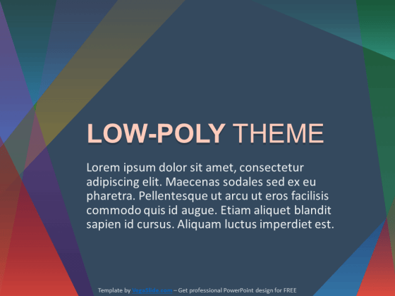 Simple Low-Poly Theme