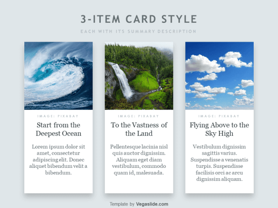 Animated 3-item Card Style PowerPoint Template
