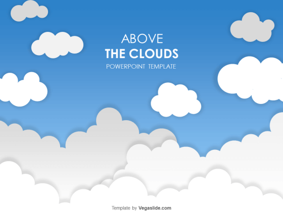 Above the Clouds PowerPoint Template