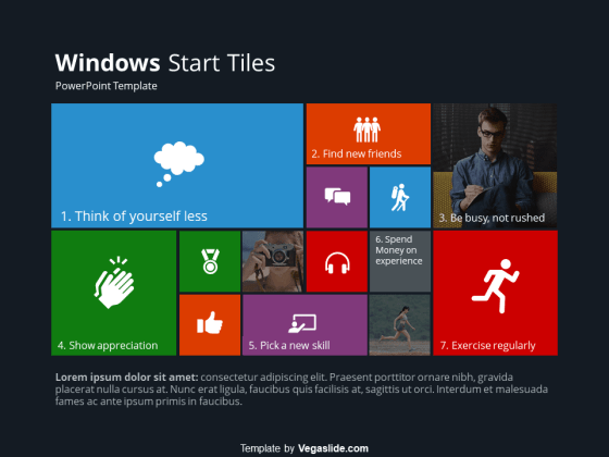 Windows Start Tiles PowerPoint Template