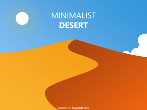 Minimalist Desert PowerPoint Template