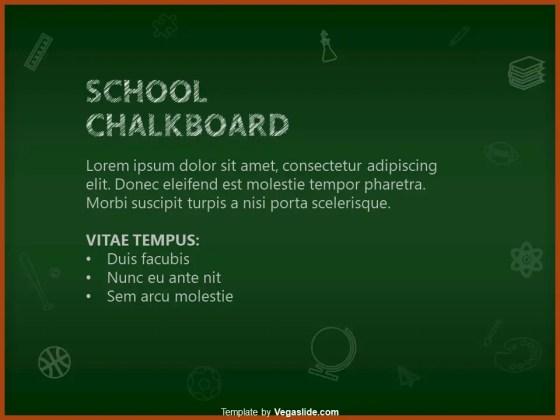 School Chalkboard PowerPoint Template