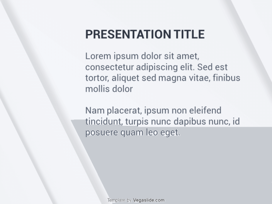 Animated Abstract Shadow PowerPoint Template
