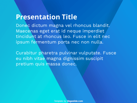 5 Simple Abstract Gradient PowerPoint Template