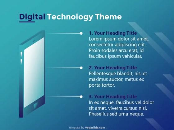 Digital Technology Theme PowerPoint Template