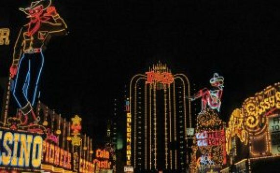 The lights of Fremont street, always free to see in downtown Las Vegas