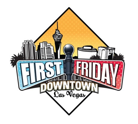 First Friday Downtown Las Vegas logo with city skyline